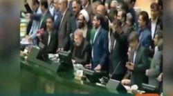 I parlamentari iraniani durante gli attentati: