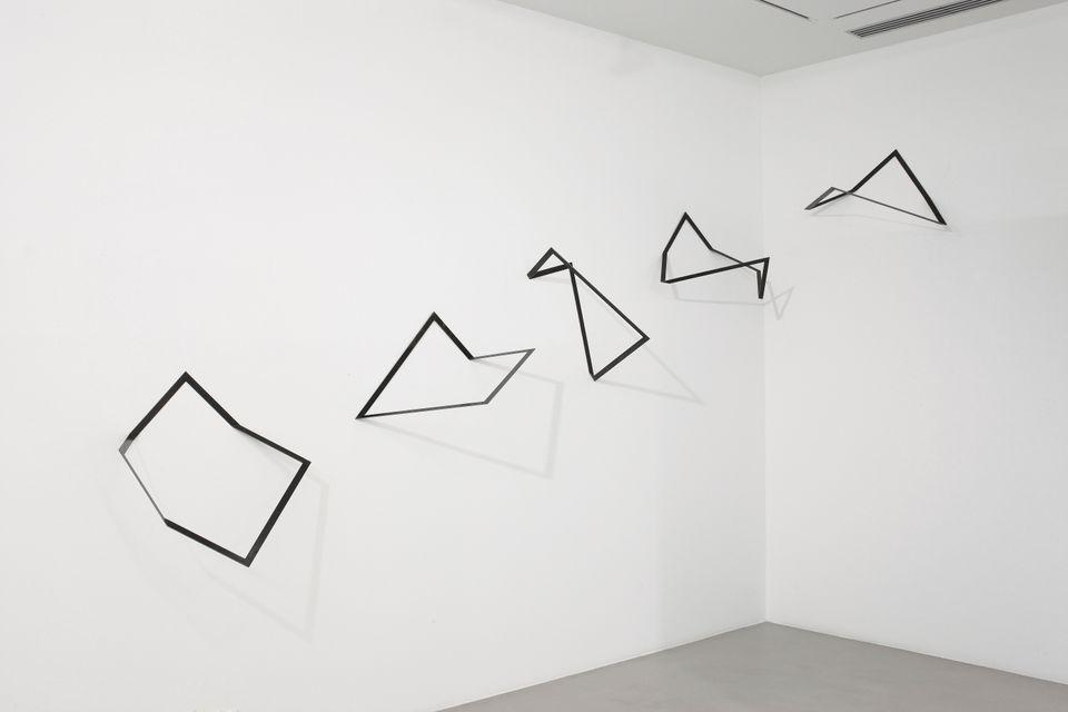 Grazia Varisco - Gnomoni, 1986; acciaio / steel 64×64cm 5 elementi, dimensione totale variabile, Photo...