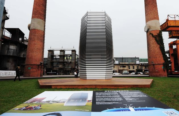 BEIJING, CHINA - OCTOBER 20: The Smog Free Tower stands at 751D.Park in the 798 Art Zone on October 20,...