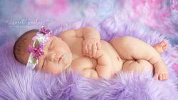 Carleigh pesa più di 6 kg appena nata: le foto della bambina che ha stupito tutti col suo