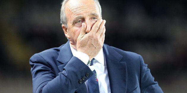 STADIO GRANDE TORINO, TORINO, ITALY - 2017/10/06: Head coach Italy Gian Piero Ventura despairs during...