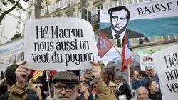 Francia in piazza contro i tagli agli statali di Macron.