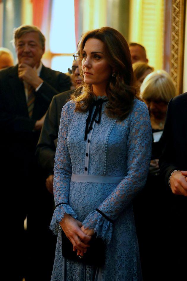 Catherine Duchess of Cambridge celebrates World Mental Health Day at Buckingham Palace in London, Britain,...