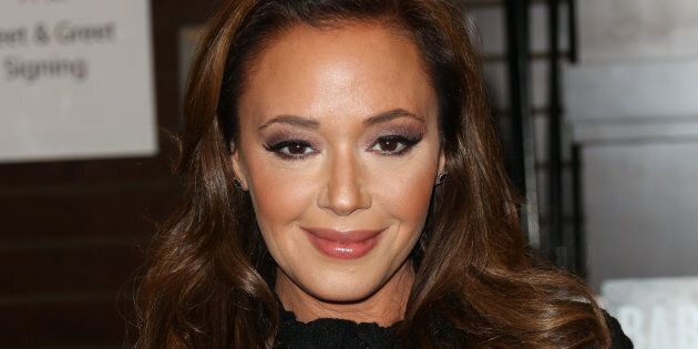 LOS ANGELES, CA - DECEMBER 08: Actress Leah Remini signs copies of her new book 'Troublemaker: Surviving...