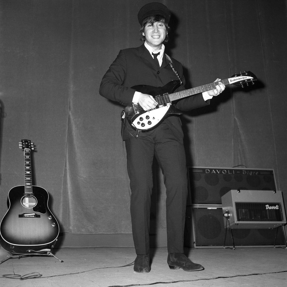 RODRIGO PAIS (1930-2007) The Beatles in concerto al teatro Adriano: John Lennon, Roma, 27.6.1965 Negativo,...
