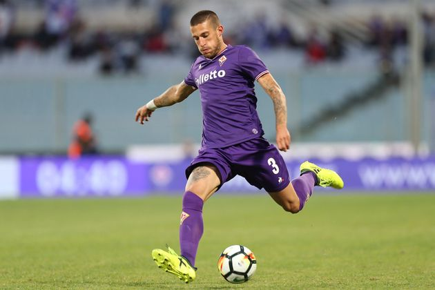FLORENCE, ITALY - SEPTEMBER 16: Cristiano Biraghi of ACF Fiorentina in action during the Serie A match...