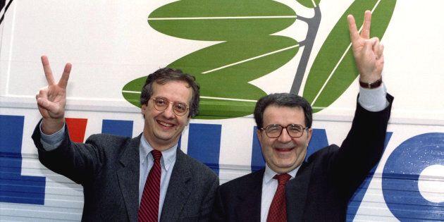 Walter Veltroni celebra Romano Prodi alla festa del