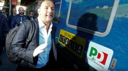 Chimera 40 per cento. Renzi cerca il paese reale in treno: