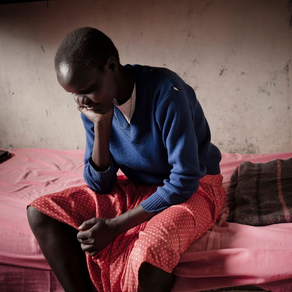 Sharon, 15, a guest of the rescue centre in the school of Kongelai. She escaped home to avoid FGM and...