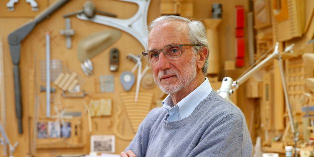 Italian architect Renzo Piano poses at his workshop in Paris, France, May 7, 2015. Piano is the architect...