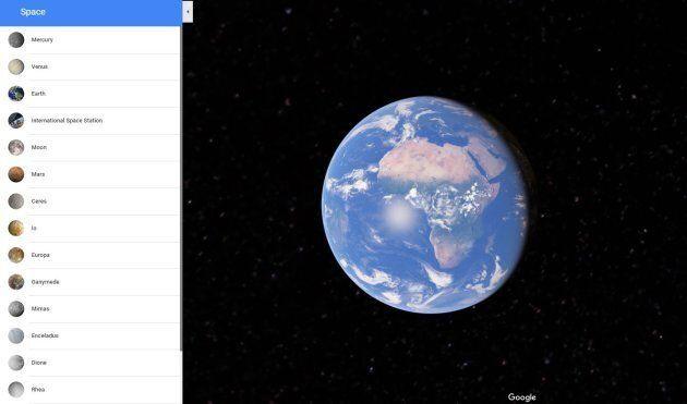 Non solo la Terra, ora Google Maps permette di viaggiare anche sulle