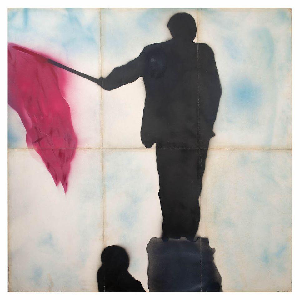 Franco Angeli Ritratto di Mao con Bandiera Rossa, 1968 Collezione Mara