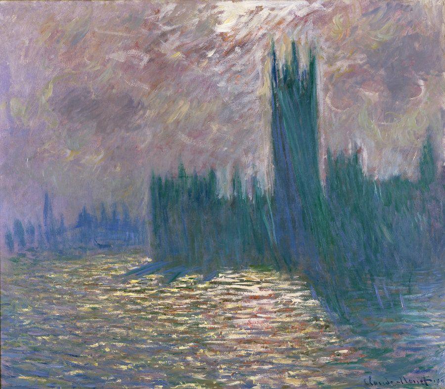 Claude Monet (1840-1926), Londra, il Parlamento. Riflessi sul Tamigi, Olio su tela 81,5x 92 - Parigi,...