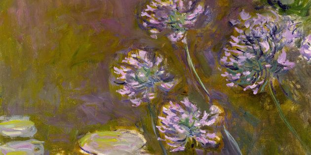 Claude Monet (1840-1926), Ninfee e Agapanti 1914-1917, Olio su tela 140x 120 - Parigi, Museée Marmottan