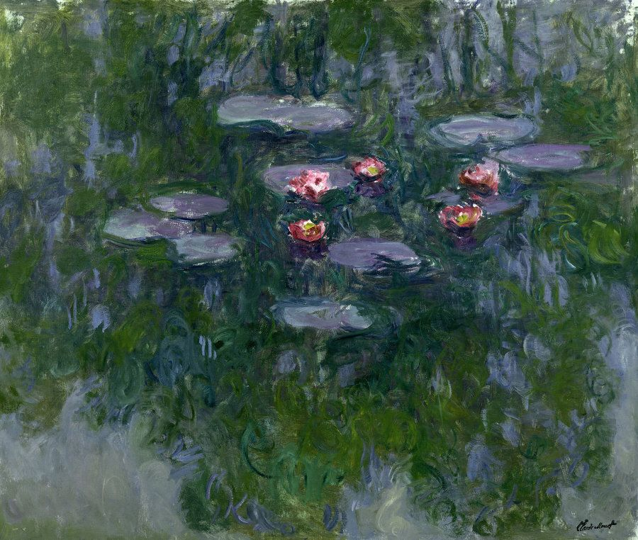 Claude Monet (1840-1926), Ninfee (1916-1919) Olio su tela 130 x 152 - Parigi, Museée Marmottan
