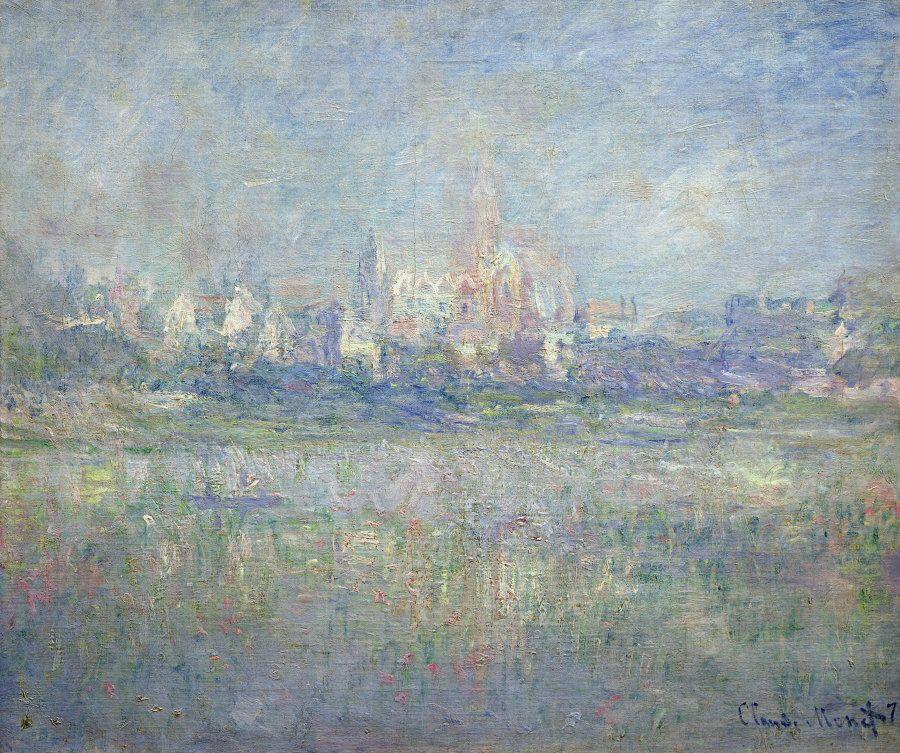 Claude Monet (1840-1926), Vetheuil nella nebbia 1879 Olio su tela 81,5x 92 - Parigi, Museée Marmottan