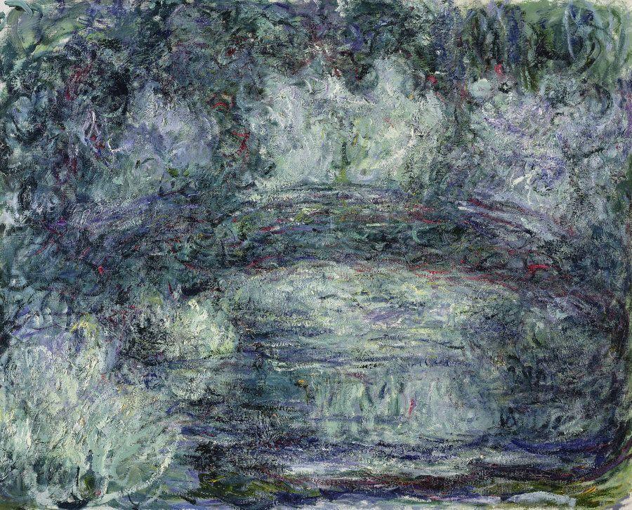 Il ponte giapponese, 1918-1919, Olio su tela, 74x92 cm Parigi, Musée Marmottan