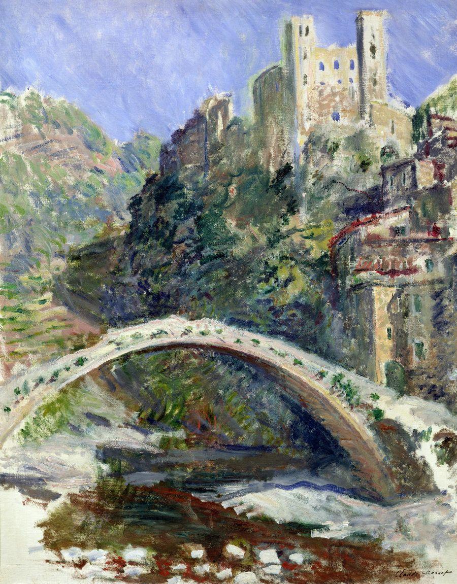 Claude Monet (1840-1926), Il castello di DolceAqcua 1884 Olio su tela 92x 73 - Parigi, Museée Marmottan