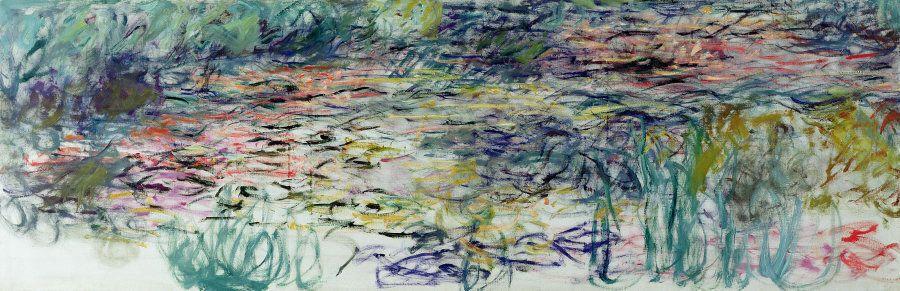 Claude Monet (1840-1926), Ninfee 1917-1919, Olio su tela 100x300 - Parigi, Museée Marmottan