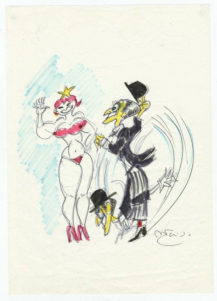 Disegno di Federico Fellini, Collezione Vincenzo
