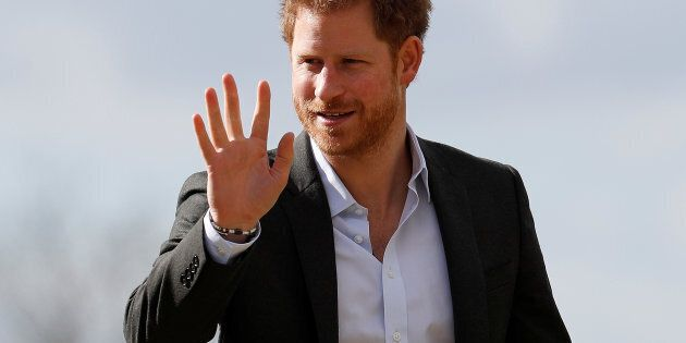 Britain's Prince Harry arrives for a visit to