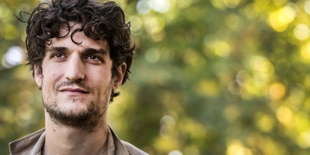 ROME, ITALY - OCTOBER 18: Louis Garrel attends a photocall for 'Redoubtable (Il Mio Godard)' on October...