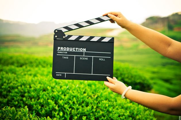 clapper board with