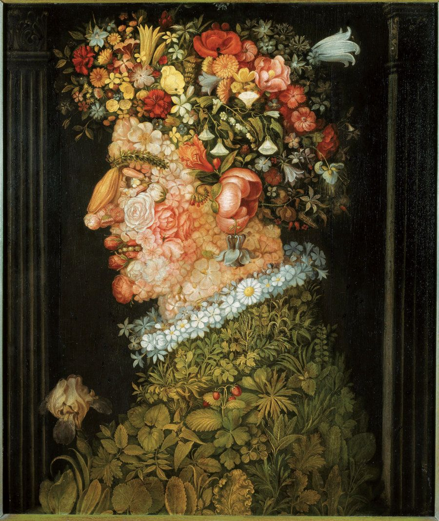 Giuseppe Arcimboldo La Primavera 1555-1569 circa , Olio su tela - Monaco di Baviera, Bayerische