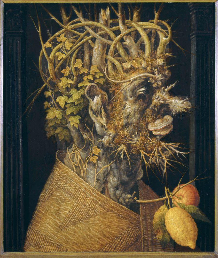 Giuseppe Arcimboldo , L'Inverno - 1555 -1560 circa, Olio su tela - Vienna,