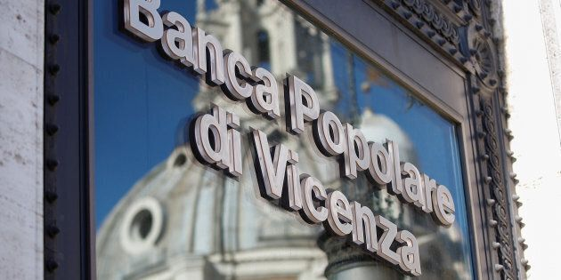 A Banca Popolare di Vicenza sign is seen in Rome, Italy, March 29, 2017. REUTERS/Alessandro