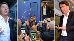 Applausi dai militanti da un lato, proteste e fischi dall'altro. Bilancio di una settimana del viaggio in treno di Renzi (di...