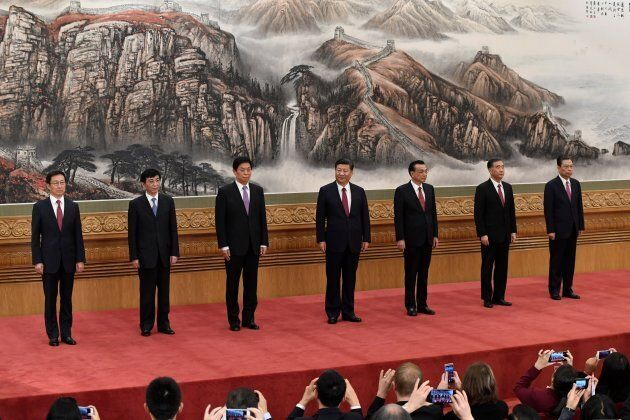 The Communist Party of China's new Politburo Standing Committee, the nation's top decision-making body...