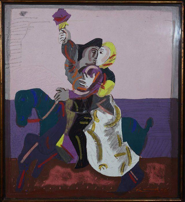 Un bassorilievo di Jos� Ortega in mostra a