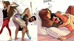 I fumetti di un marito con sua moglie raccontano le tante