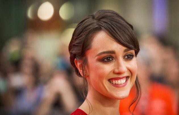 Actress Heather Lind arrives on the red carpet for the film