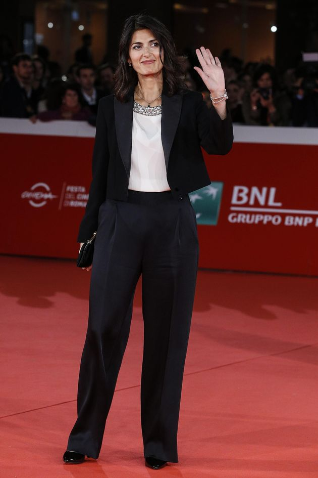 Virginia Raggi, Major of Rome during the red carpet on the occasion of the open ceremony of the 12th...