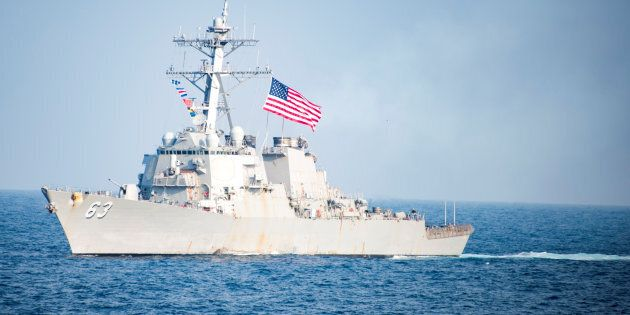 FILE PHOTO: The Arleigh Burke-class guided-missile destroyer USS Stethem. Picture taken March 22, 2017....