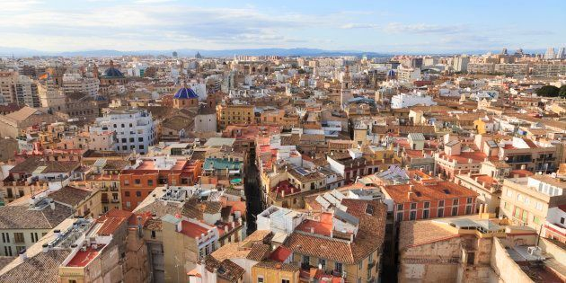 Rooftop cityscape of Valencia in Spain, Valencia, Spain. (Photo by: Loop Images/UIG via Getty