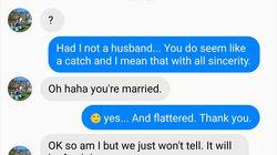 Tenta di convincere una donna sposata a tradire il marito. Ma la risposta di lei lo lascia senza
