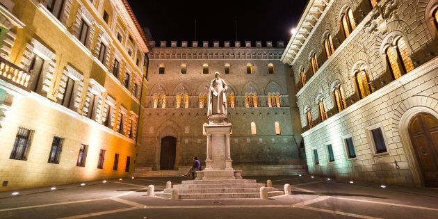 The Monte dei Paschi bank headquarters at