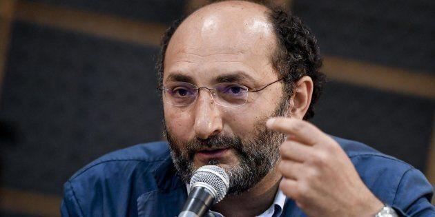 Il giornalista de 'Il Fatto Quotidiano' Marco Lillo durante la presentazione del suo libro ''Di padre...