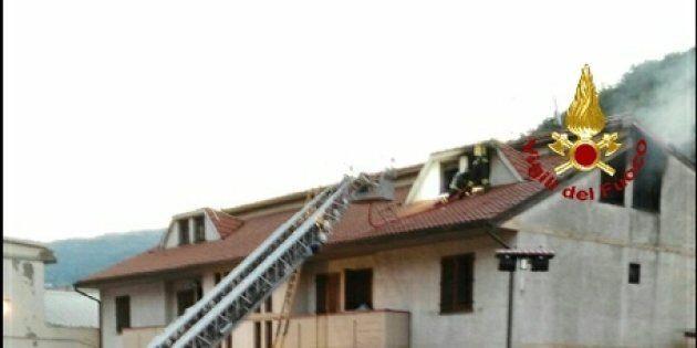 Lo stabile in cui si è sviluppato l'incendio il 26 agosto