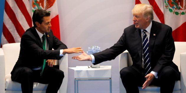 Trump fa l'amicone con Peña Nieto, ma il messicano lo gela: