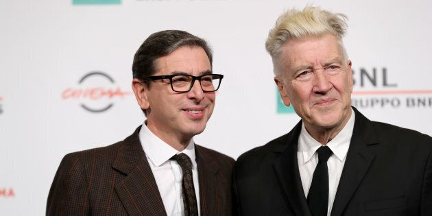 ROME, ITALY - NOVEMBER 04: David Lynch and Antonio Monda (L) attend a photocall during the 12th Rome...