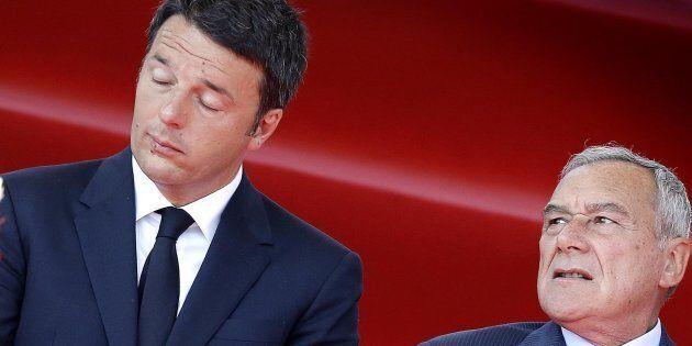 Matteo Renzi e Pietro Grasso in una foto di archivio ANSA/GIUSEPPE