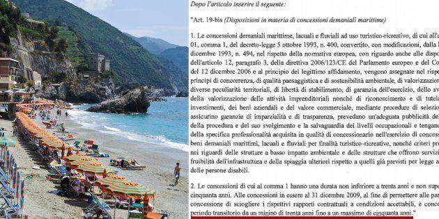 Una spiaggia è per sempre (o quasi): emendamento Pd al decreto fiscale proroga le concessioni balneari...