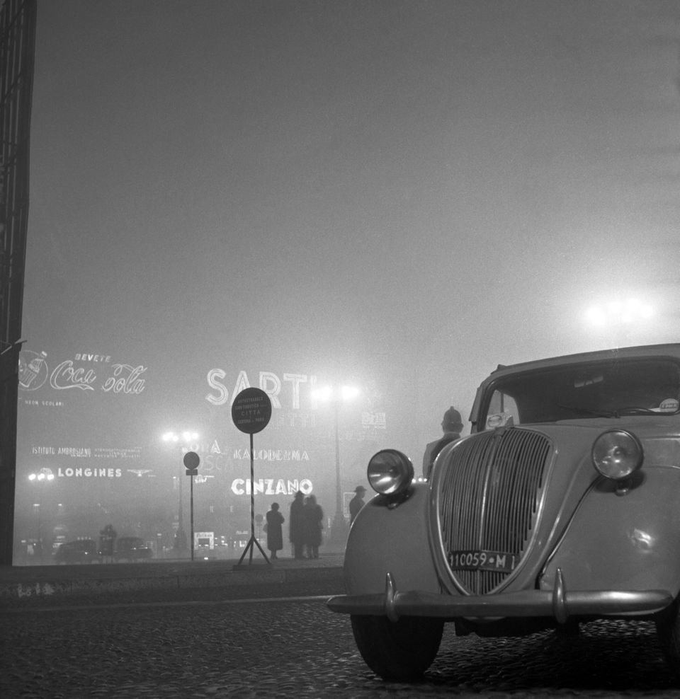 Milano, 30/12/1954 Nella foto: nebbia @AF