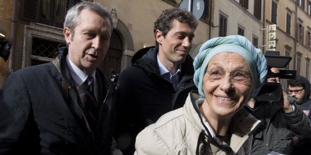 Emma Bonino e Benedetto Della Vedova al loro arrivo alla sede del Pd, Roma, 13 novembre 2017. ANSA/MAURIZIO