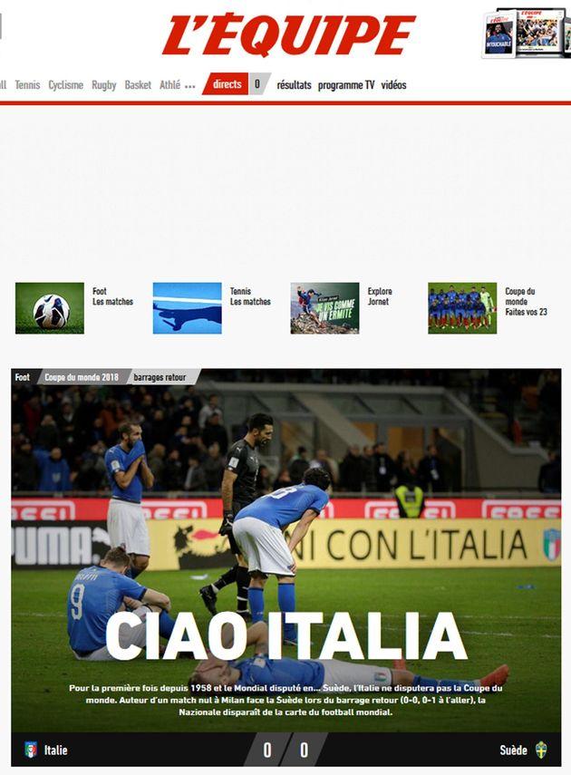Dalla Spagna all'Inghilterra, dalla Germania, alla Francia, l'eliminazione dell'Italia dalla prossima...