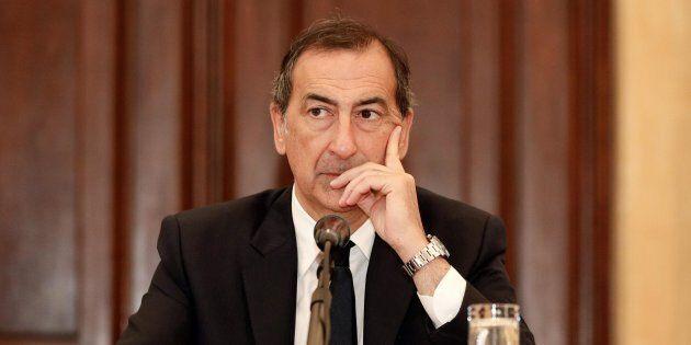Il sindaco Milano Giuseppe Sala in occasione della presentazione alla stampa della